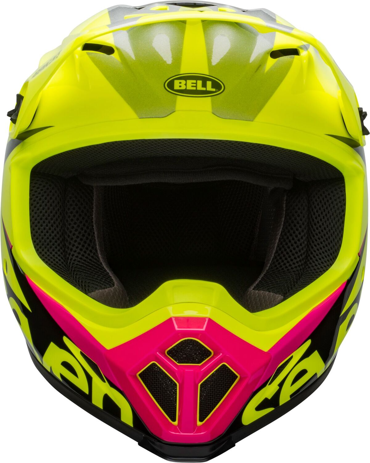 bell helmets mx 9 mips dirt helmet seven ignite gloss flo yellow