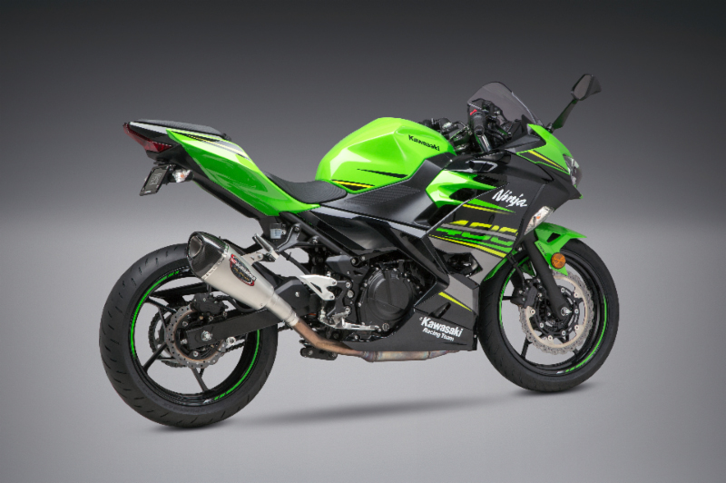 2018 Kawasaki Ninja 400 with Works Finish Alpha T Slip-on street series