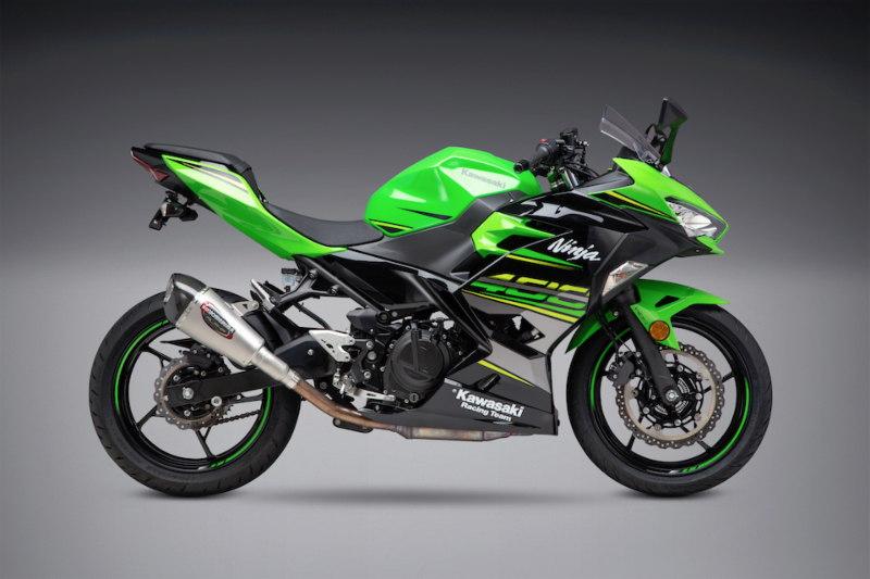 2018 Kawasaki Ninja 400 with Works Finish Alpha T Street Series Slip-on