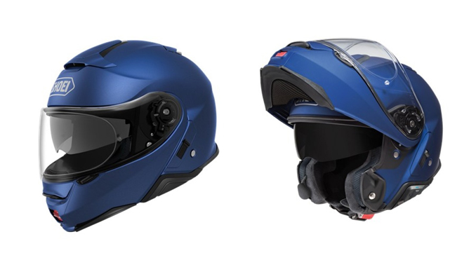 The Shoei Neotec II allows for completely seamless integration of the all-new Sena SRL Bluetooth Communication System.