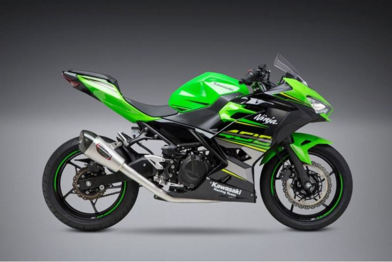 2018 Kawasaki Ninja 400 with Yoshimura Alpha T Race Series - Works Finish stainless full system