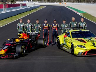Aston Martin Red Bull Racing RB14 Aston Martin Racing WEC Vantage GTE