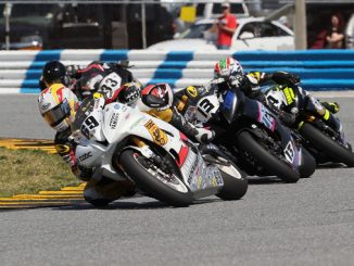 Action shot from the 2017 AMA-sanctioned Daytona 200. Photo credit- Brian J. Nelson