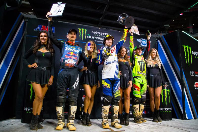 Atlanta Triple Crown 450SX Class podium