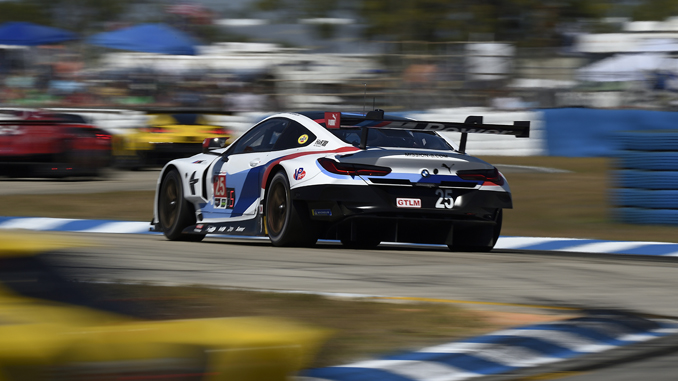 new bmw m8 gte races to first podium finish at sebring. Black Bedroom Furniture Sets. Home Design Ideas