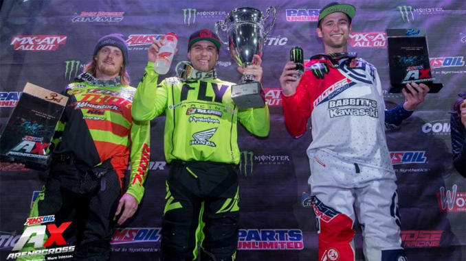 Chris Blose captures his first AMSOIL Arenacross overall victory in Denver, Colorado on March 17