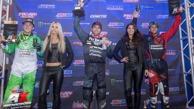 Chris Blose secures the 250AX points lead with his second consecutive AMSOIL Arenacross overall victory in Nampa, Idaho on March 24.