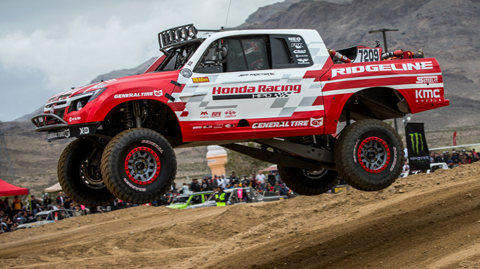 Ridgeline Baja Race Truck Runs Second at Mint 400