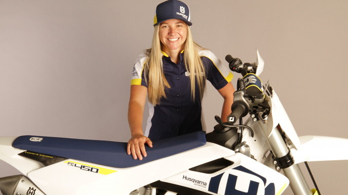 Shayna Texter and Husqvarna Motorcycles Team Up for 2018 AFT Singles Season