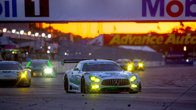 The No. 33 Mercedes-AMG Team Riley Motorsports Mercedes AMG GT3