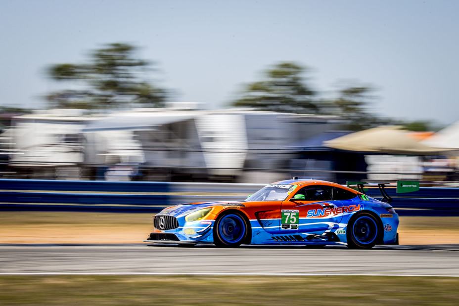 The No. 75 SunEnergy1 Racing Mercedes-AMG GT3 placed 10th in the 2018 Twelve Hours of Sebring