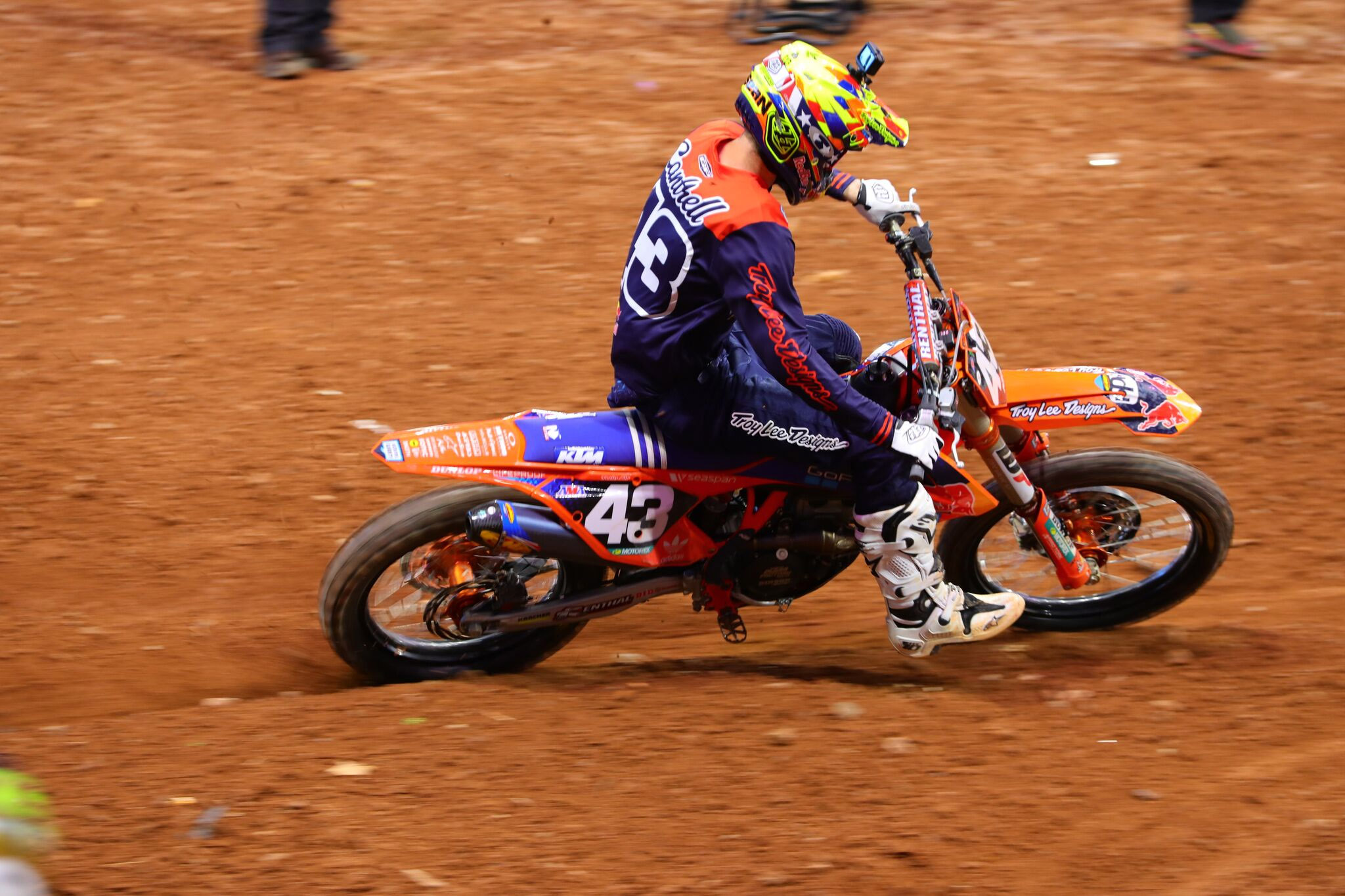 Troy Lee Designs-Red Bull-KTM's Cantrell had been able to showcase his speed but on Saturday night luck was not on his side