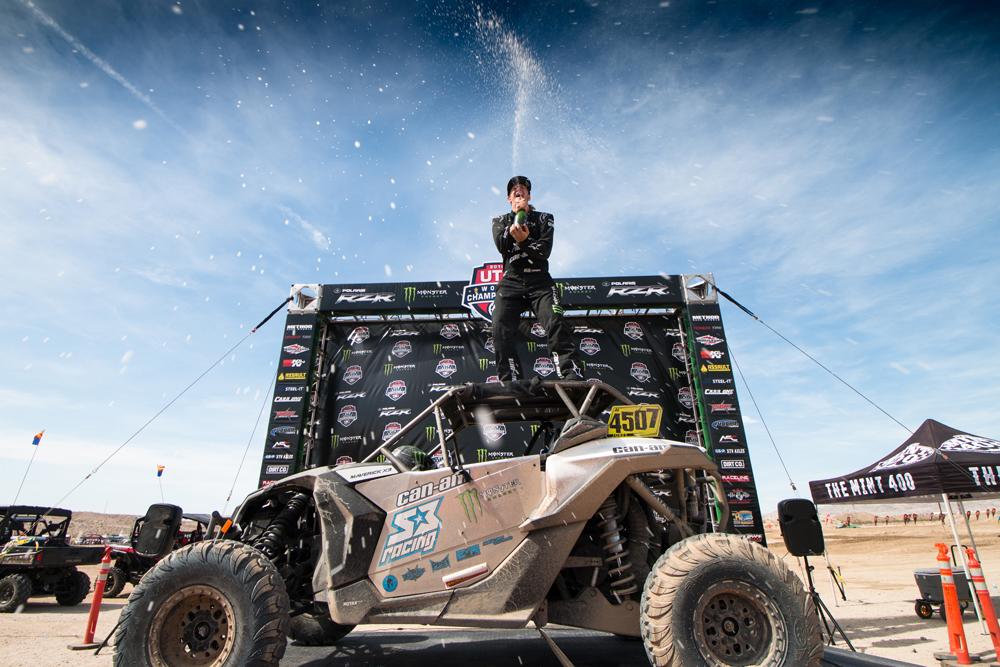 Dustin Jones won the short course portion of the Polaris RZR UTV World Championship
