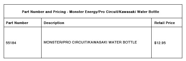 Pro Circuit Water Bottle Part-Number-Pricing-R-1