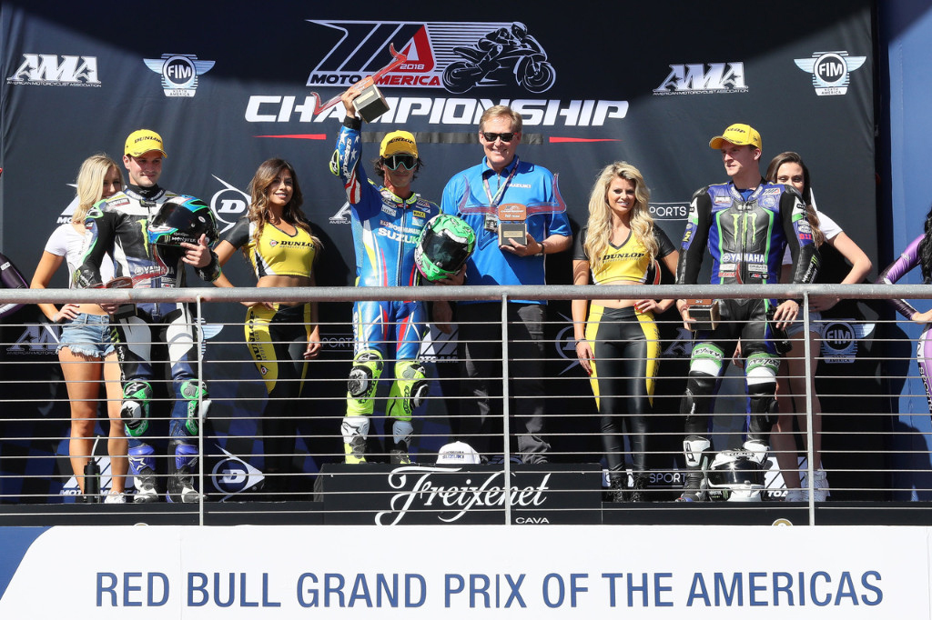 MotoAmerica Superbike Sunday podium at COTA