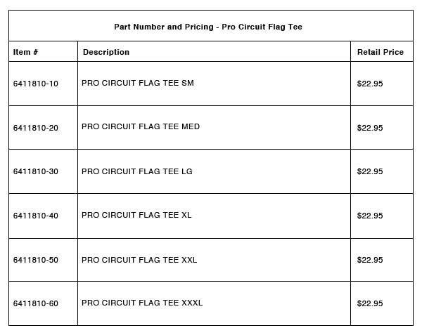 Pro Circuit Flag Tee Part-Number-Pricing-R-6