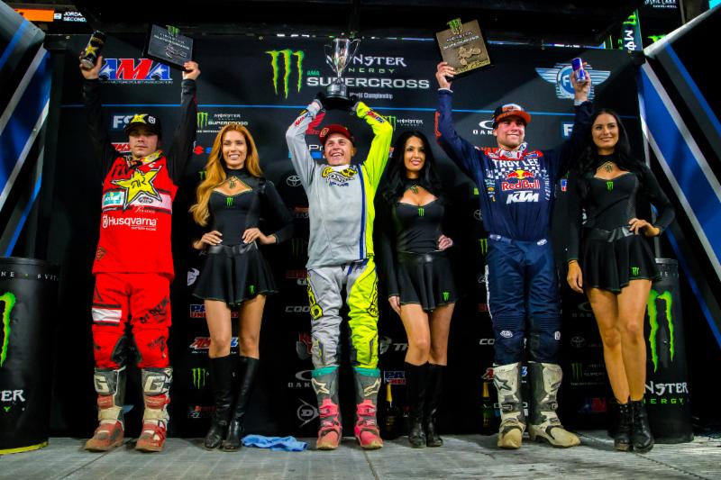Jeremy Martin captured his second-consecutive Eastern Regional 250SX Class win and first Triple Crown victory in Minneapolis. Photo credit: Feld Entertainment, Inc.