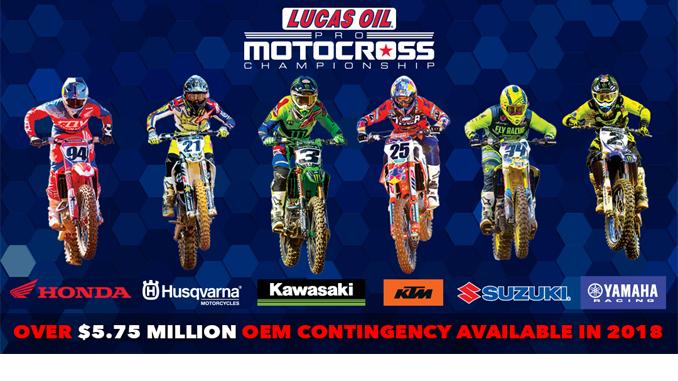 2018 Pro Motocross Contingency
