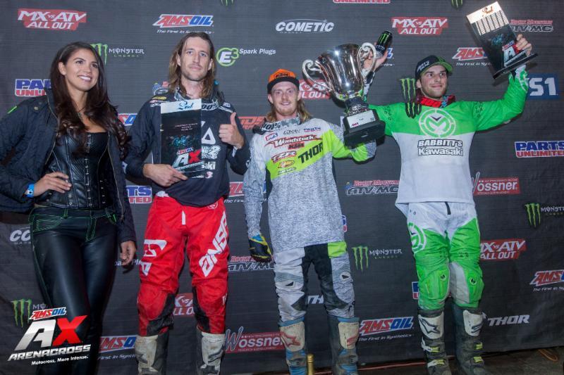 AMSOIL Arenacross podium Reno 2018
