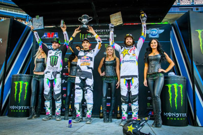 Monster Energy Supercross 450 podium - Foxborough
