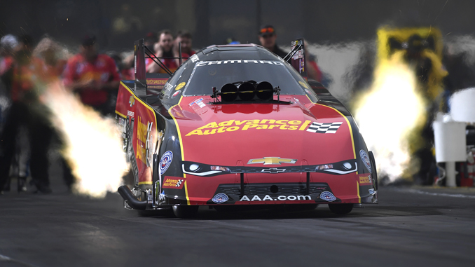 NHRA Funny Car Courtney Force action