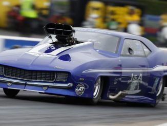 Jim Whiteley drove to victory on Sunday during the E3 Spark Plugs NHRA Pro Mod Drag Racing Series presented by J&A Service portion of the NHRA SpringNationals at Royal Purple Raceway