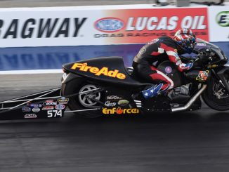 NHRA Pro Stock Motorcycle Cory Reed Friday Four-Wide Nationals