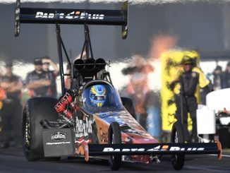 NHRA Top Fuel Clay Millican action - NHRA Four-Wide Nationals