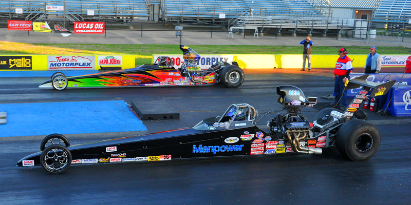 oss Laris won Top Dragster and Runner-Up in Super Comp - Lucas Oil Dallas Divisional