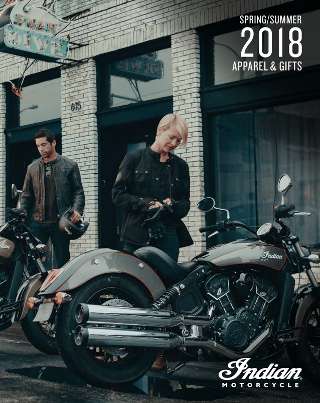 SS 2018 Indian Motorcycle Dealer Apparel catalog cover