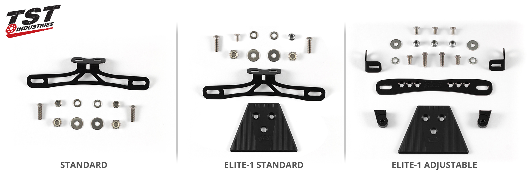 What's included in each TST Industries Kawasaki Ninja 400 Fender Eliminator kit.