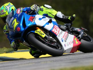 Toni Elias led the opening day of the 2018 MotoAmerica Series with the fastest Motul Superbike