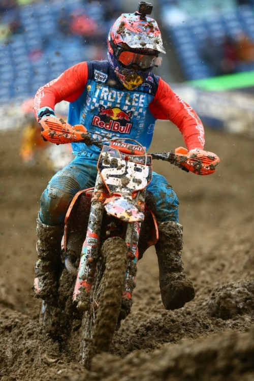 Troy Lee Designs-Red Bull-KTM's McElrath Battles Mud In Seattle
