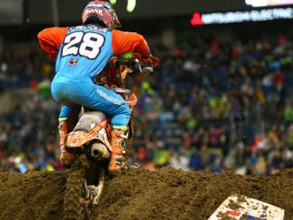 Troy Lee Designs-Red Bull-KTM's McElrath Battles Mud In Seattle