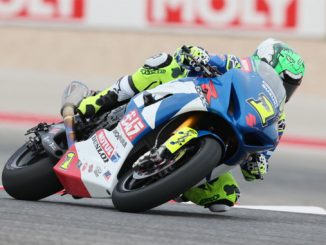 Yoshimura Suzuki's Toni Elias earned pole position for this weekend's two MotoAmerica Motul Superbike races at COTA