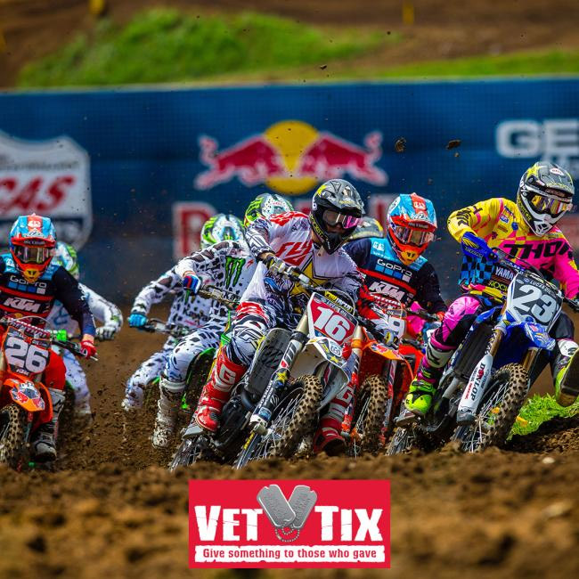 A Total of 700 Tickets to 2018 Lucas Oil Pro Motocross Season Available Via Veteran Tickets Foundation - Vet Tix.