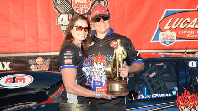 Don O'Neal and wife Diane with their 1st National Event Wally