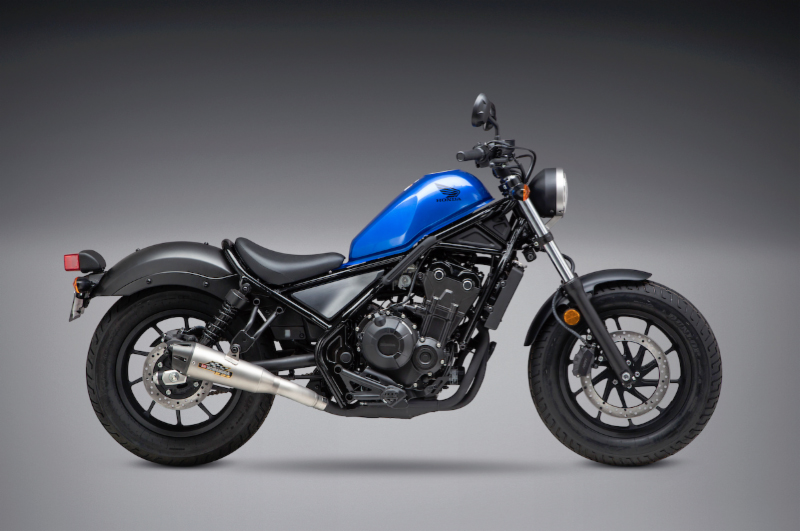 018 Honda Rebel 500 with the new Yoshimura R-34 Street Series Slip-on