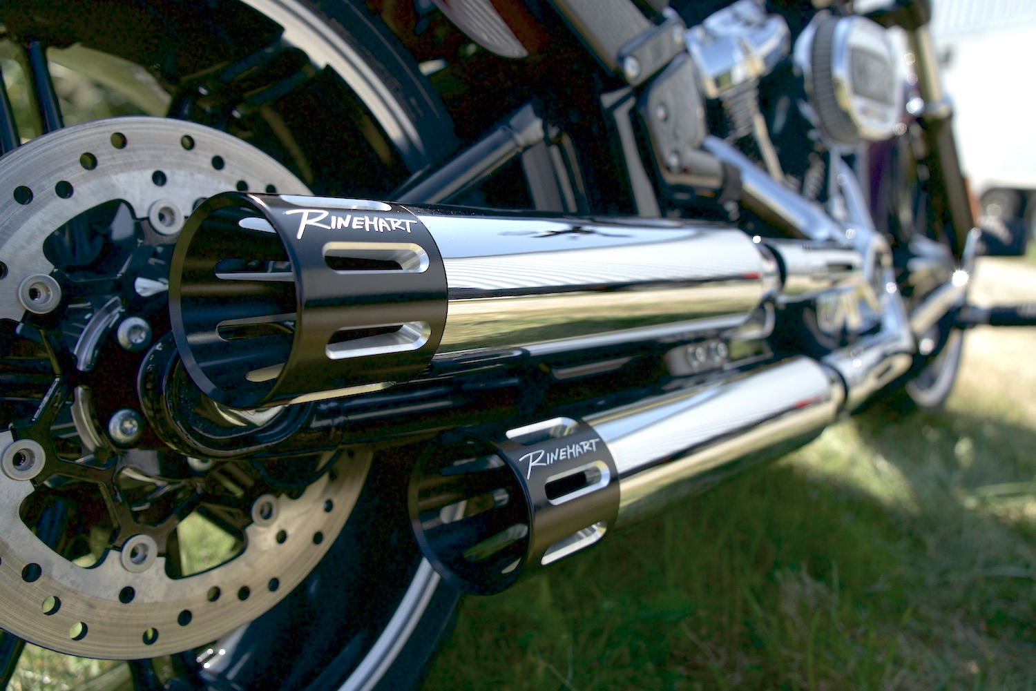 The 3.5-inch slip-ons are available in chrome or black with a variety of end caps.