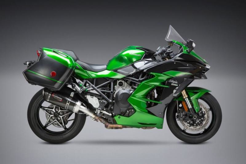 2018 Kawasaki H2 SX with Alpha carbon Street Series Slip-on