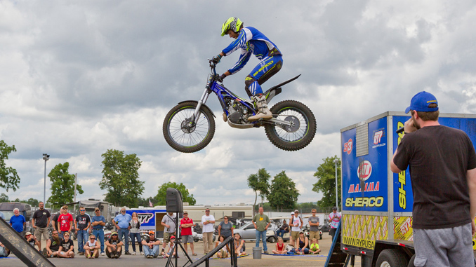 Xtreme Trials exhibition at AMA Vintage Motorcycle Days