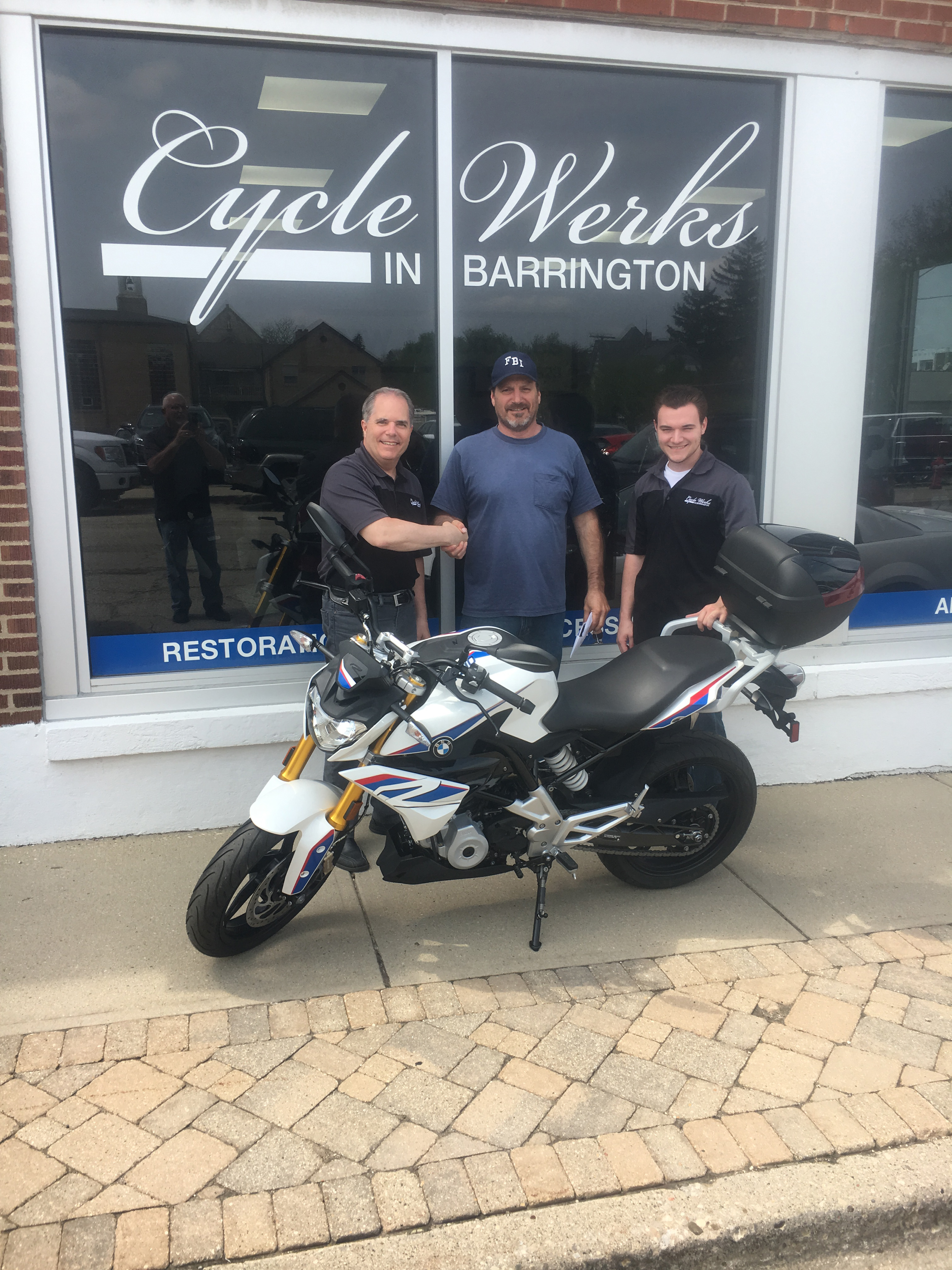 Steve Boydston with his 2018 BMW G 310 R