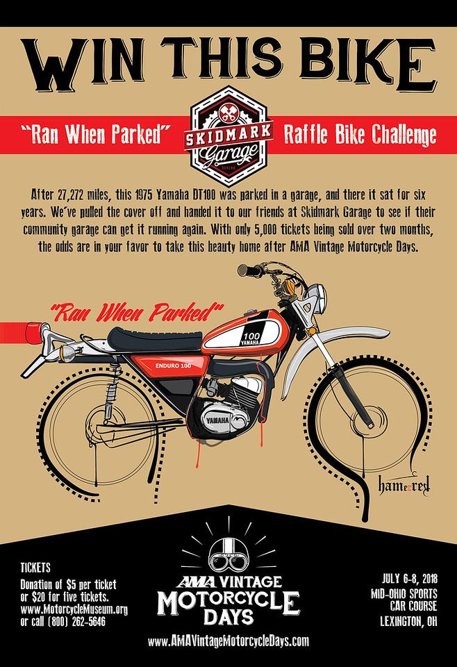 Ran When Parked Raffle Bike Challenge