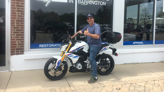 Steve Boydston - winner of IMS Sweepstakes - BMW G 310 R