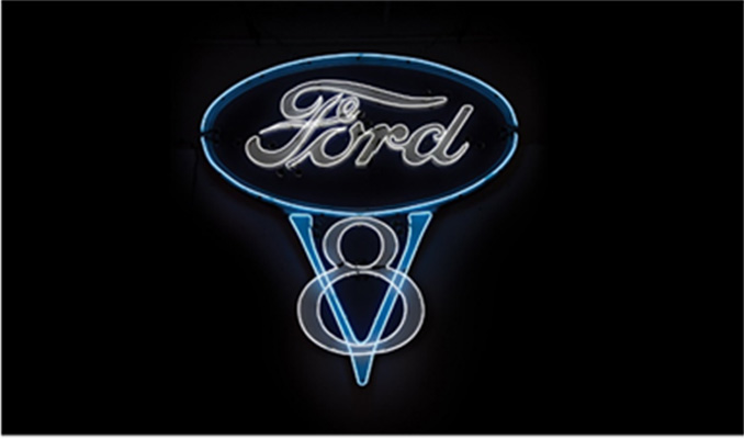 The Dingman Collection Lot 195 – Ford V-8 Neon Sign
