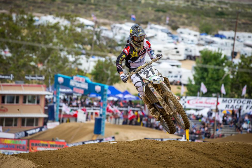 Glen Helen National - Jason Anderson led most of Moto 2 and earned his first overall podium of the season. - Jeff Kardas