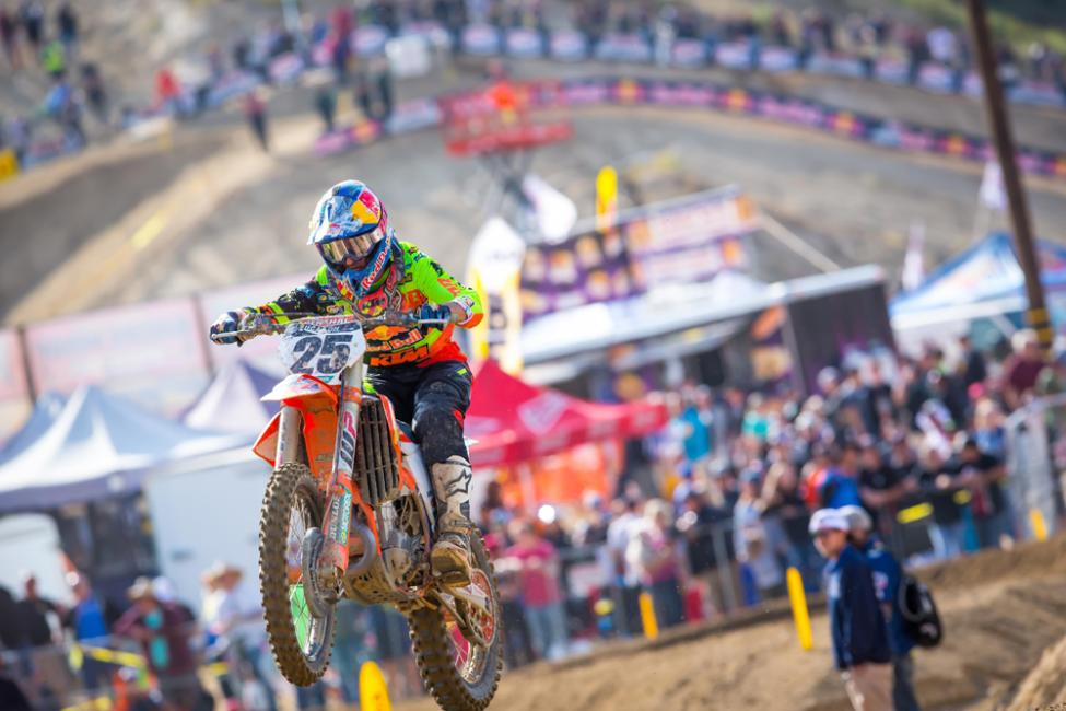 Glen Helen National - Marvin Musquin has now finished on the podium for seven straight races dating back to last season. - Rich Shepherd