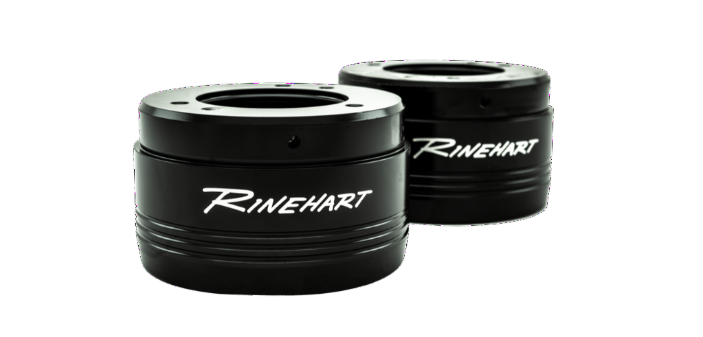 Rinehart Racing - Tradition end caps are offered in black or chrome finishes.