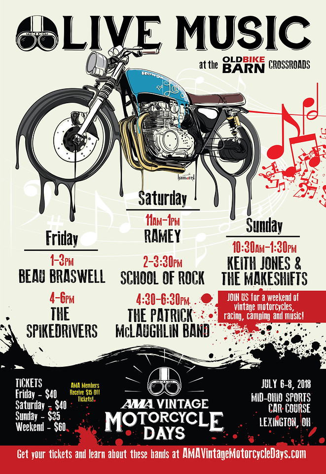 AMA Vintage Motorcycle Days Live Music