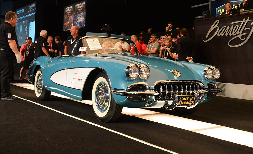 This 1960 Corvette Fuelie convertible was one of 145 vehicles in John Staluppi's highly coveted Cars of Dreams Collection, one of three collections sold at the 2018 Palm Beach Auction.